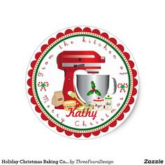 If you love christmas baking and making christmas cookies and treats to gift. Try out these personalized kitchen aid stickers. From the Kitchen Of: Your name Christmas Baking, Christmas Cookies, Christmas Holidays, Christmas Gifts, Happy Holidays, Christmas Stationery, Holiday Essentials, Jar Labels, Christmas Stickers
