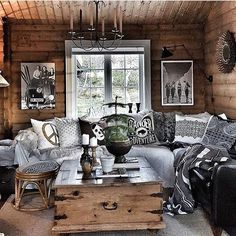 Rustic Style, Modern Rustic, Winter Lodge, Wood Resin, Cabins In The Woods, Interior S, Boat House, Tiny House, Decoration