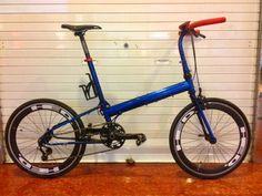 Pocket Rocket Sapphire Blue Bike Friday, 20 Wheels, Folding Bicycle, Brompton, Bicycle Design, Bike Stuff, Cool Bikes, Mini, Sapphire