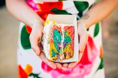 rainbow cake - love the inside of this! so pretty.