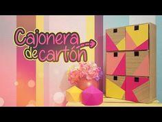 DIY: CAJONERA de CARTÓN - YouTube