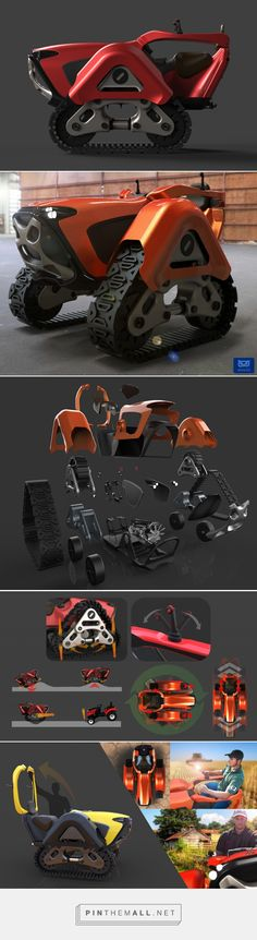 Little Tractor for Big Jobs | Yanko Design - created via http://pinthemall.net
