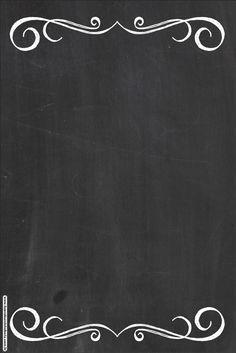 bruna_oliveirasil's Photos, Drawings and Gif Lousa Borders And Frames, Blackboards, Chalkboard Art, Chalkboard Background, Chalk Art, Hand Lettering, Diy And Crafts, Clip Art, Printables