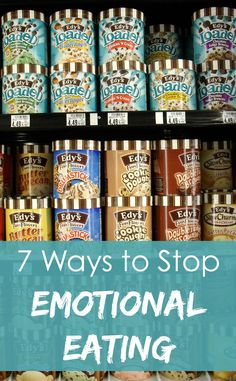 Put down the ice cream carton! For all of us who eat because we're tired, bored, frustrated, or lonely, here are 7 ways to stop emotional eating or overeating and finally get healthy!