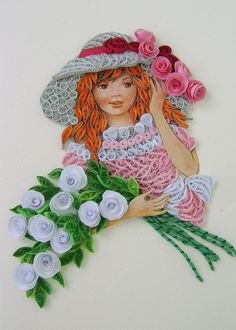 quilling art: female characters in the wonderful paper art - crafts ideas - crafts for kids Neli Quilling, Quilling Jewelry, Quilling Dolls, Paper Quilling Flowers, Paper Quilling Patterns, Quilling Paper Craft, Paper Crafts, Quilling Ideas, Art Crafts