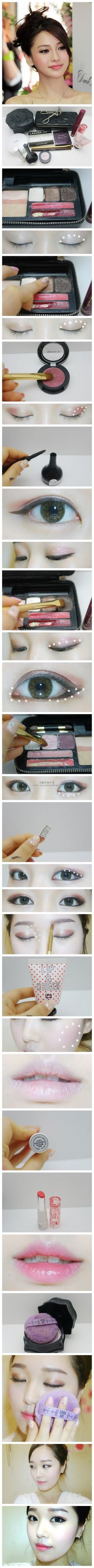 Korean make up http://hellomzkrystal.blogspot.com/