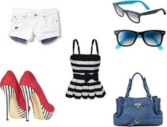 """Nautical Fourth of July Outfit"" by lil-mahall on Polyvore"