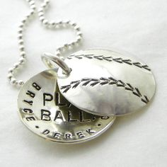 Baseball Mom hand stamped and personalized locket by Punky Jane
