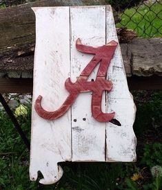 Wooden State of Alabama Pallet Sign University of by R2KPallet