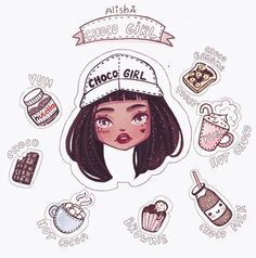 Choco Girl~ Character Design Illustration~ By Alisha