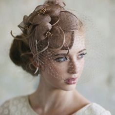 Victorian bride fascinator..elegantly beautiful...