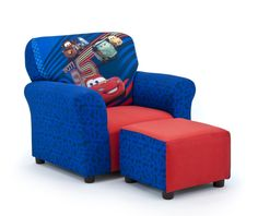 Disneyu0027s Cars 2 Kidu0027s Club Chair And Ottoman Set