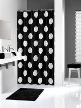 Shower curtain Sealskin Polka black