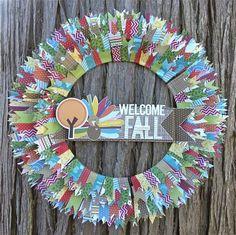 Fantastic fall washi wreath