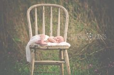 newborn photography rustic vintage outdoors