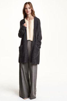 Casaco de malha com mohair   H&M