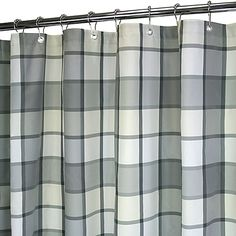Park B. Smith®'s yarn-dyed plaid fabric shower curtain will perfectly complement bathrooms with country style or traditional decor.