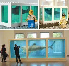 Fantastic Plastic: 20 Essential Works of LEGO Art (Damien Hirst Shark Parody)