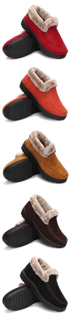 US$13.21  Suede Ankle Soft Warm Footwear Short Boots For Women