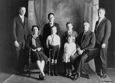 Briggs Family, 1928 - Mr Briggs was Belmont State School's first head teacher. Front L - R: Roy, Mary (nee Airds, Woombye), Jack, Joyce. Boys back: Cliff and Douglas.