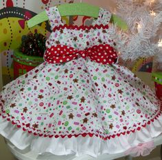 Spring Girls Custom Ruffled Valentine's Dress by NanaJustbananas, $60.00