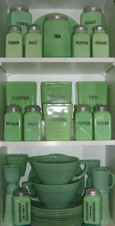 A Jadite Lovers Kitchen! A Collectors Kitchen! Shabby Chic Vintage Farmhouse Design