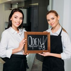 If you want your business to stand out from the crowd, you should take every opportunity. Even if that means creating unique opening hour salon signs. Opening Hours Sign, Salon Signs, Competition, Salons, Unique, Check, Fun, Design, Fin Fun