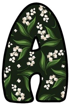 Monogram Alphabet, Lily Of The Valley, Birthday Parties, Pillows, Garden, Alphabet, Decorated Letters, Floral Letters, Garten