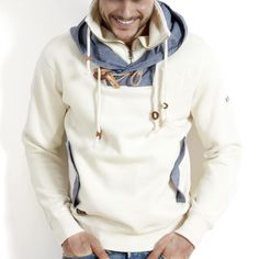 pullover by under 2 flags. Moda Men, Casual Wear, Men Casual, White Casual, Looks Style, My Style, Estilo Cool, Look Man, Well Dressed Men