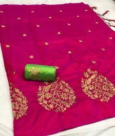 Beautiful Saree -@1150/- INR Only Fabric details -- 🌺OUR NEW BRAND🌺 *GVS TREE* 🌸FABRIC SANA SILK 🌸BANGLORE SILK 🌸EMORODAIRY WORK 🌸100%…