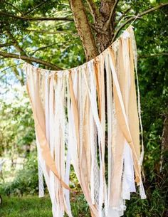 Recycle old fabric and create a beautiful backdrop for your big day. Click here for the DIY.