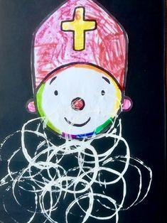 Hoe stempel je met een wc-rolletje?   sinterklaas baard stempelen   Hoe stempel je met een wc-rolletje? Easy Crafts, Diy And Crafts, Creative Activities For Kids, Daycare Crafts, Holiday Parties, Tweety, Kindergarten, December, Christmas Ornaments
