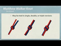 """How to Tie """"Matthew Walker"""" """"Two Strand"""" Knot - YouTube"""