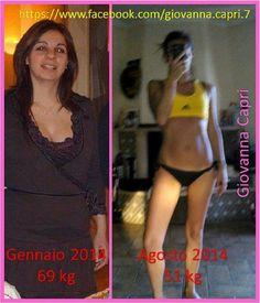 Questa sono io e questo è il mio cambiamento dopo 6 mesi di programma... Non solo sono tornata in forma ma ho imparato uno stile di vita sano <3