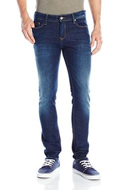 Tommy Hilfiger Denim Men's Skinny Sidney Stretch Jean, Dark Comfort, 36x36  ❤ Hilfiger Denim