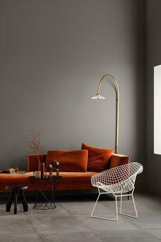home interior design living room Interior Design Minimalist, Decor Interior Design, Interior Decorating, Interior Colors, Cafe Interior, Interior Modern, Luxury Interior, Room Interior, Oranges Sofa