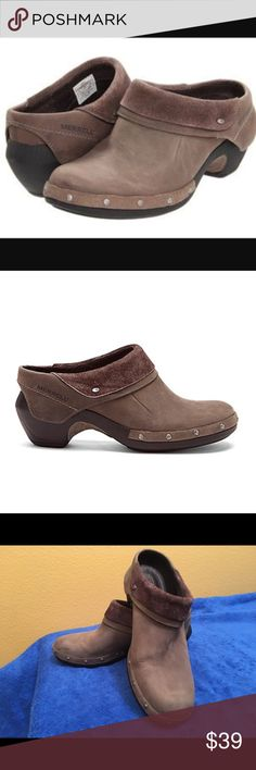 MERRELL CLOGS!  Excellent condition!! Beautiful MERRELL drizzle clogs! Studded slip on clogs , very comfortable! Merrell Shoes Mules & Clogs