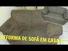 Reformando meu sofá em casa - DIY-VEM VER- O SEGREDO DO PAPELÃO -Parte 1-Gastando pouco - YouTube Recliner, Love Seat, Armchair, Couch, Interior, Furniture, 1, Home Decor, Youtube