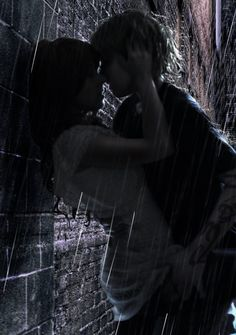 "This pic reminds me of Patch & Nora from the Hush, Hush book series. ------------------- Clary and Jace (Mortal Instruments) ""What's the point in wasting a perfectly good brick wall when you have someone to throw against it"" Isabella Lightwood in City of Fallen Angels upon finding Jace n Clary kissing in the alley"