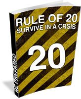 Most Americans fail to recognize the 3 basic mistakes almost everyone will make in the first hour of a crisis  The Rule Of 20 is a unique approach for people who want to create a survival plan but can't get started