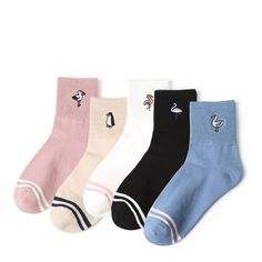 4639873df9ed US $1.92 40% OFF Aliexpress.com : Buy New Women Girl Flamingo Penguin  Pattern Cotton Crew Socks Japan Cute Funny Harajuku Street Tide Casual  Novelty Winter ...