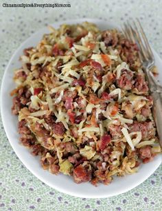 Easy Skillet Corned Beef Hash and Cabbage