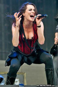 Within Temptation @ Rock en France (Sharon Den Adel) Ladies Of Metal, Metal Girl, Symphonic Metal, Adele, Women Of Rock, Gothic, Rocker Girl, Pop Rock, Women In Music