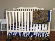Items similar to CHEVRON & HUNTING CAMO with minky dot blanket Crib or Toddler baby bedding set bumperless with realtree Fabric free monogram on Etsy Baby Bedding Sets, Crib Sets, Hunting Camo, Free Monogram, Cribs, New Baby Products, Chevron, Dots, Etsy Shop