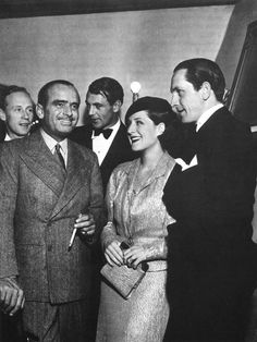 Fredric March with Norma Shearer Douglas Fairbanks Leslie Howard at party given by Gary Cooper