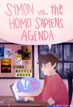 "tuxedoflask: ""thank u becky albertalli i really had to draw something for this book and i am SO PUMPED for the movie can i get an amen! Amor Simon, Love Simon, Simon Spier, Jacques A Dit, Becky Albertalli, Fanart, Great Love Stories, Book Fandoms, Good Movies"