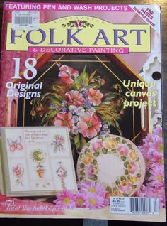 Folk Art & Decorative Painting 18 Designs Mag Pattern Attached Vol. 12 No.10 #THEFOLKARTCOLLECTION