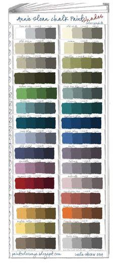 Annie Sloan Chalk Paint Swatch Book Part 2 - Shades by Knittin4britain