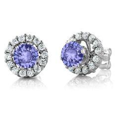 Zales Kite-Shaped Tanzanite Earrings in Sterling Silver Clxgs1KNe
