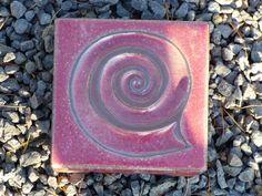 Motiv Pflasterstein Schnecke in rosa - Gärten für Auge & Seele